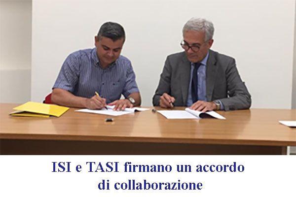 ISI e TASI firmano un Memorandum of Understanding per la promozione della cultura antisismica