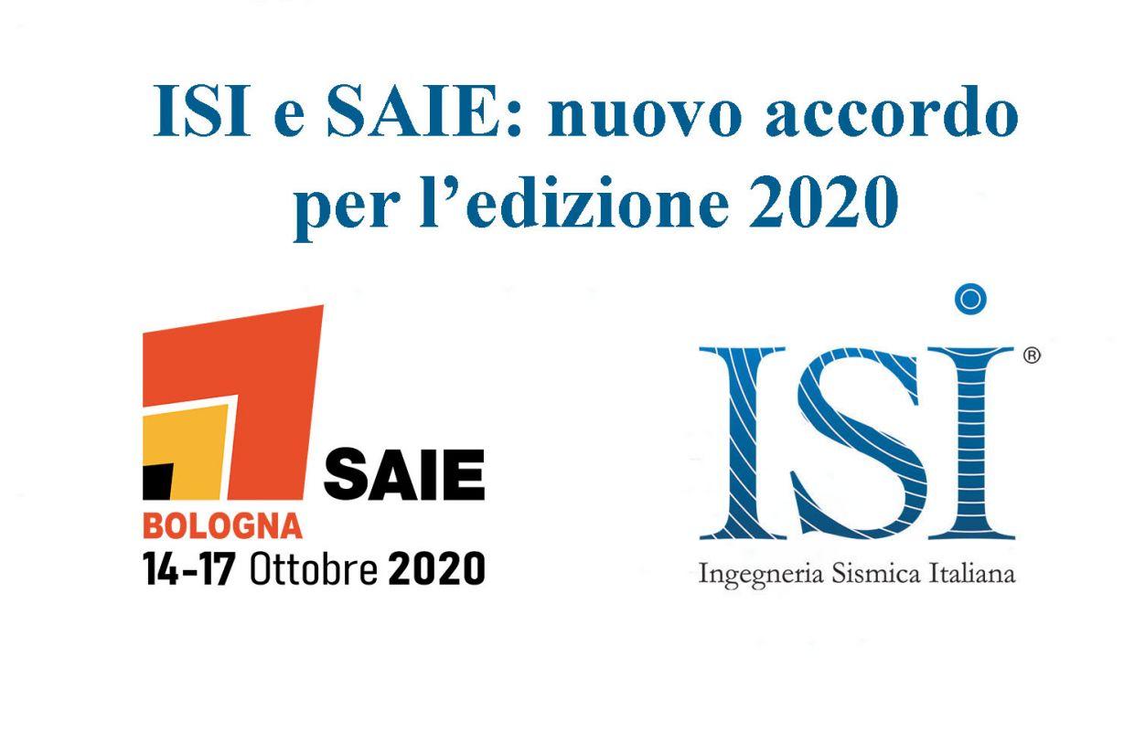 ISI e SAIE: Nuovo accordo per l'edizione 2020