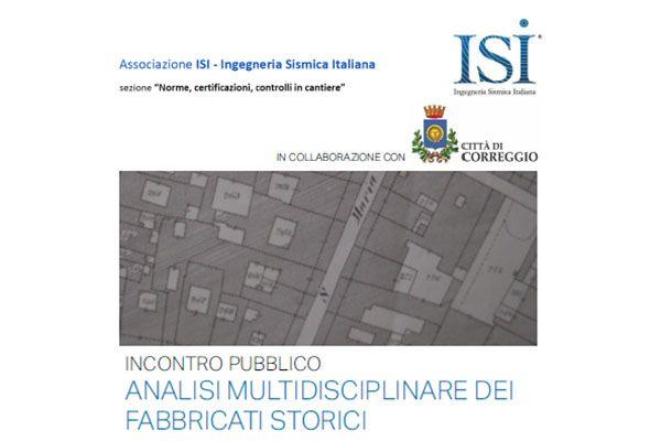 Incontro Pubblico: Analisi Multidisciplinare dei Fabbricati Storici