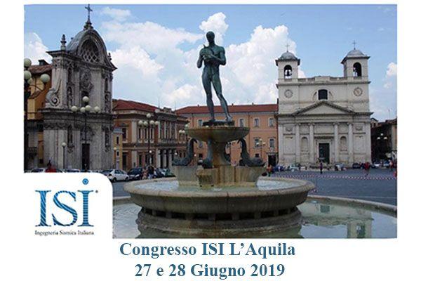 Congresso ISI - L'Aquila 27 e 28 Giugno 2019