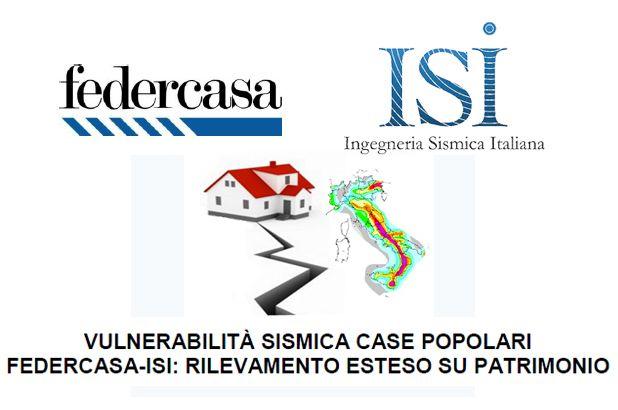COMUNICATO STAMPA -  Vulnerabilità Sismica case popolari Federcasa-ISI: Rilevamento esteso su patrimonio