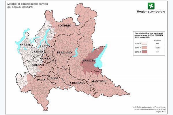 Lombardia: Nuova classificazione sismica in vigore dal 10 aprile