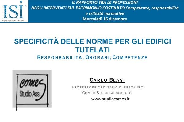 Il prof. Carlo Blasi ospite di Ingegneria Sismica Italiana