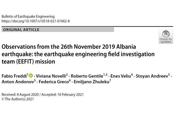 Terremoto in Albania del 2019: osservazioni della missione EEFIT