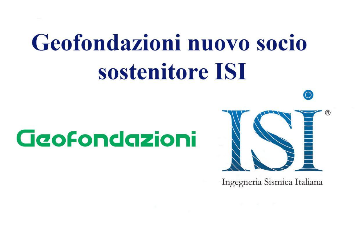 Geofondazioni nuovo socio sostenitore ISI