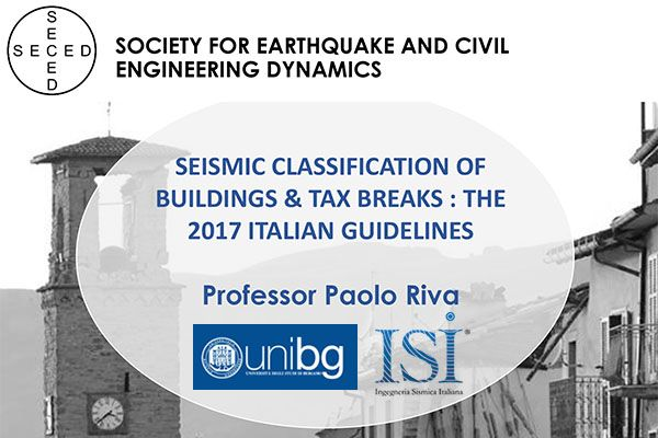 Seminar ISI at SECED. Prof Paolo Riva explain the new Italian Seismic vulnerability Classification and the Sismabonus to the colleagues in the UK