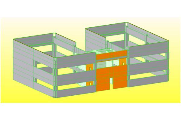 Modellazione di un capannone in elementi prefabbricati con tamponamenti in pannelli prefabbricati