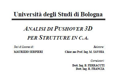 Analisi di Pushover 3D per strutture in c.a.