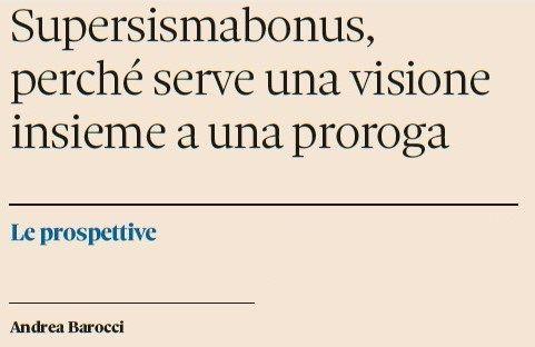 SuperSismaBonus, l'importanza di una proroga e di una visione