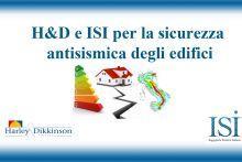 Comunicato Stampa: H&D e ISI per la sicurezza antisismica degli edifici