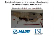 Presidio antisismico per la protezione e la mitigazione del danno di elementi non strutturali