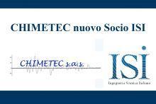 CHIMETEC nuovo socio ISI