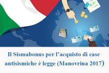 Il Sismabonus per l'acquisto di case antisismiche è legge (Manovrina 2017)