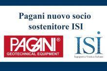 PAGANI Geotechnical Equipment nuovo socio sostenitore ISI